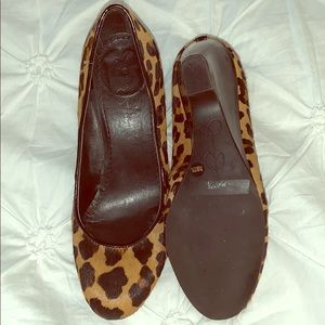 Leopard Print Wedge Shoe